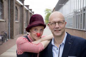 Bedrijfsfotograaf bij Cliniclowns te Amersfoort, portretten van directeur Coen Abbenhuis en Cliniclown